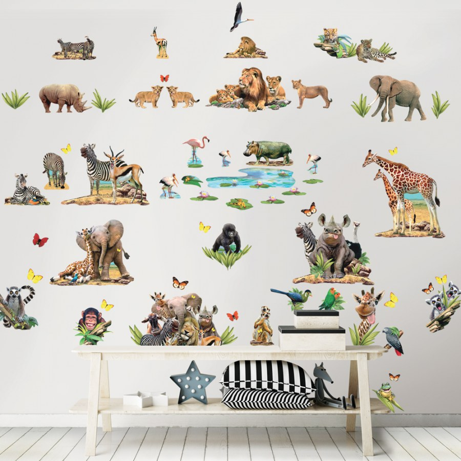 Samolepicí dekorace Walltastic Safari 45439 - Dětské dekorace na zeď
