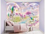 3D Fototapeta Jednorožci 46245, 305 x 244 cm Fototapety pro děti