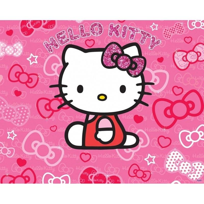 3D fototapeta Walltastic Hello Kitty 41271 | 305x244 cm - Fototapety pro děti