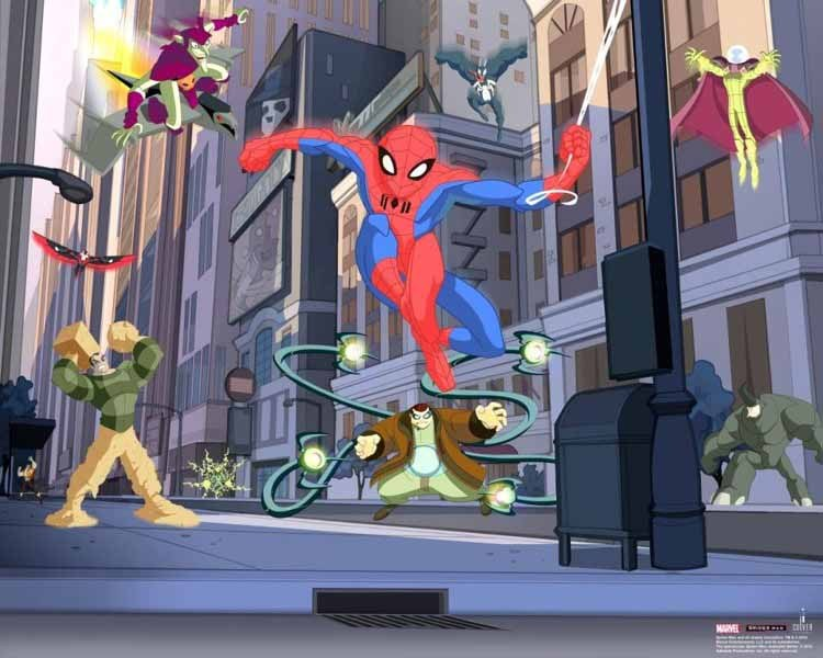 3D fototapeta Walltastic Spiderman 40335 | 305x244 cm - Fototapety pro děti