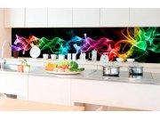 Samolepicí fototapeta do kuchyně - Černý kouř KI-350-081 | 350x60 cm Samolepící fototapety - Na kuchyňskou linku