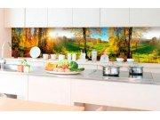 Samolepicí fototapeta do kuchyně - Louka KI-350-083 | 350x60 cm Samolepící fototapety - Na kuchyňskou linku