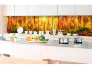Samolepicí fototapeta do kuchyně - Slunečný les KI-350-084 | 350x60 cm Samolepící fototapety - Na kuchyňskou linku