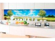 Samolepicí fototapeta do kuchyně - Strom na louce KI-350-085 | 350x60 cm Samolepící fototapety - Na kuchyňskou linku