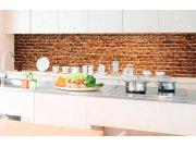 Samolepicí fototapeta do kuchyně - Stará cihla KI-350-087 | 350x60 cm Samolepící fototapety - Na kuchyňskou linku