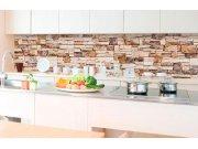 Samolepicí fototapeta do kuchyně - Kamenná zeď KI-350-088 | 350x60 cm Samolepící fototapety - Na kuchyňskou linku