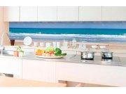 Samolepicí fototapeta do kuchyně - Pláž KI-350-090 | 350x60 cm Samolepící fototapety - Na kuchyňskou linku