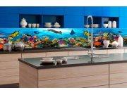 Samolepicí fototapeta do kuchyně - Ryby v oceánu KI-350-092 | 350x60 cm Samolepící fototapety - Na kuchyňskou linku