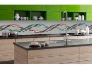 Samolepicí fototapeta do kuchyně - Třpytící se vlna KI-350-093 | 350x60 cm Samolepící fototapety - Na kuchyňskou linku