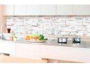 Samolepicí fototapeta do kuchyně - Nápisy děkuji KI-350-094 | 350x60 cm Samolepící fototapety - Na kuchyňskou linku