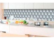 Samolepicí fototapeta do kuchyně - 3D krychlová zeď KI-350-096 | 350x60 cm Samolepící fototapety - Na kuchyňskou linku