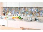 Samolepicí fototapeta do kuchyně - Portugalské kachličky KI-350-097 | 350x60 cm Samolepící fototapety - Na kuchyňskou linku