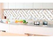 Samolepicí fototapeta do kuchyně - Hnědé okvětní lístky KI-350-099 | 350x60 cm Samolepící fototapety - Na kuchyňskou linku