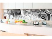 Samolepicí fototapeta do kuchyně - Kapalné chromové stříbro KI-350-101 | 350x60 cm Samolepící fototapety - Na kuchyňskou linku