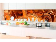 Samolepicí fototapeta do kuchyně - Kapalný chromový bronz KI-350-102 | 350x60 cm Samolepící fototapety - Na kuchyňskou linku