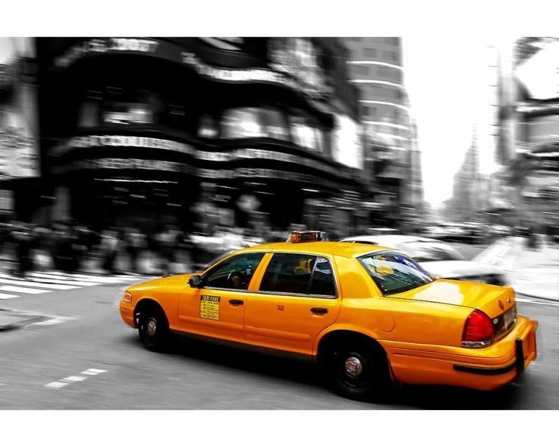 Vliesové fototapety na zeď Žluté taxi | MS-5-0007 | 375x250 cm - Fototapety vliesové