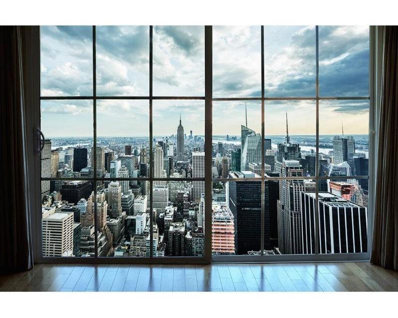 Vliesové fototapety na zeď Pohled z okna na Manhattan   MS-5-0009   375x250 cm - Fototapety vliesové