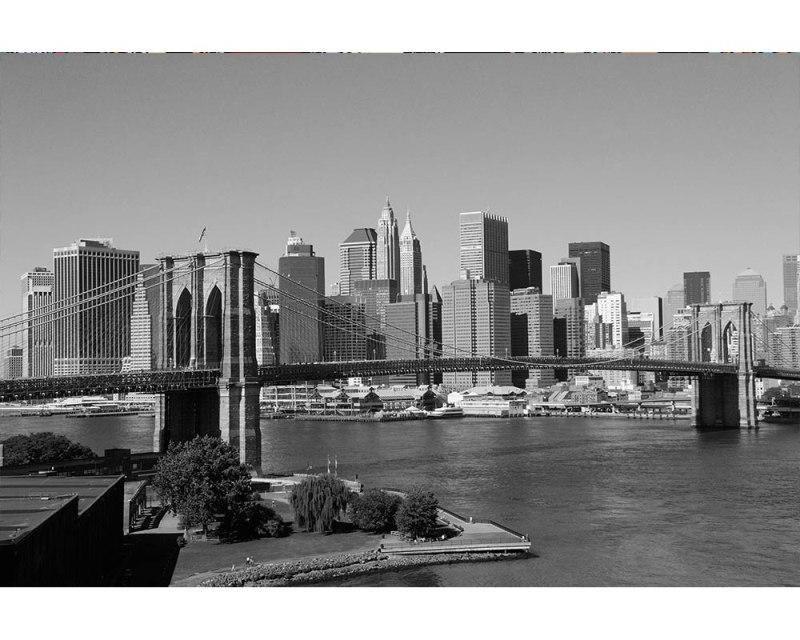 Vliesové fototapety na zeď Manhattan v šedé barvě | MS-5-0010 | 375x250 cm - Fototapety vliesové