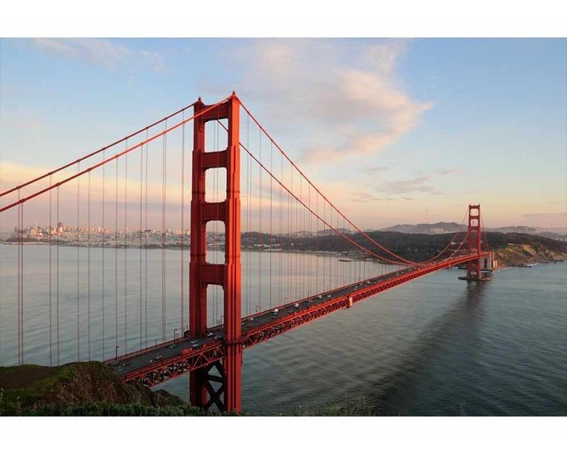 Vliesové fototapety na zeď Most Golden Gate | MS-5-0015 | 375x250 cm - Fototapety vliesové