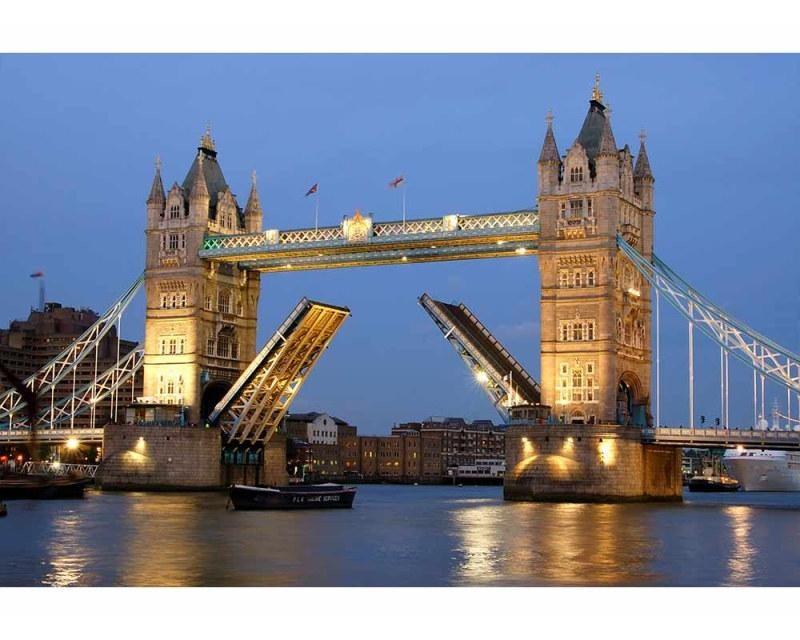 Vliesové fototapety na zeď Tower Bridge v noci | MS-5-0021 | 375x250 cm - Fototapety vliesové