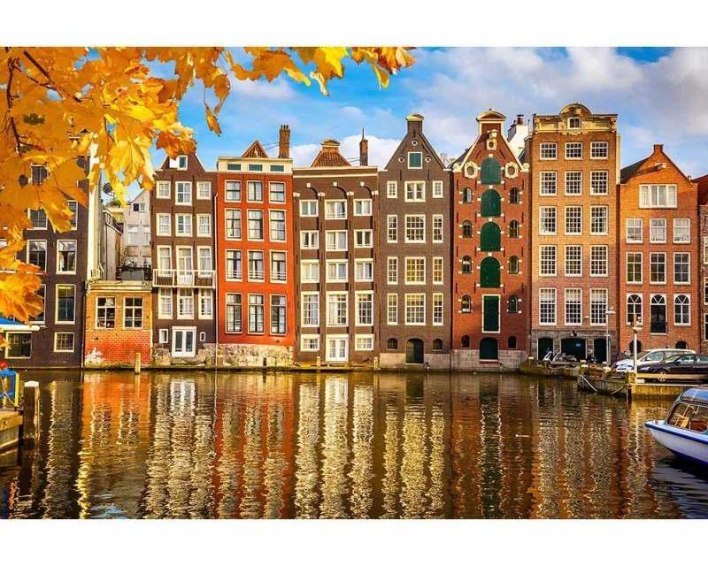 Vliesové fototapety na zeď Domy v Amsterdamu | MS-5-0024 | 375x250 cm - Fototapety vliesové