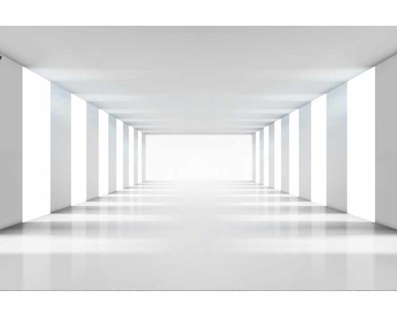 Vliesové fototapety na zeď 3D bílá chodba | MS-5-0036 | 375x250 cm - Fototapety vliesové