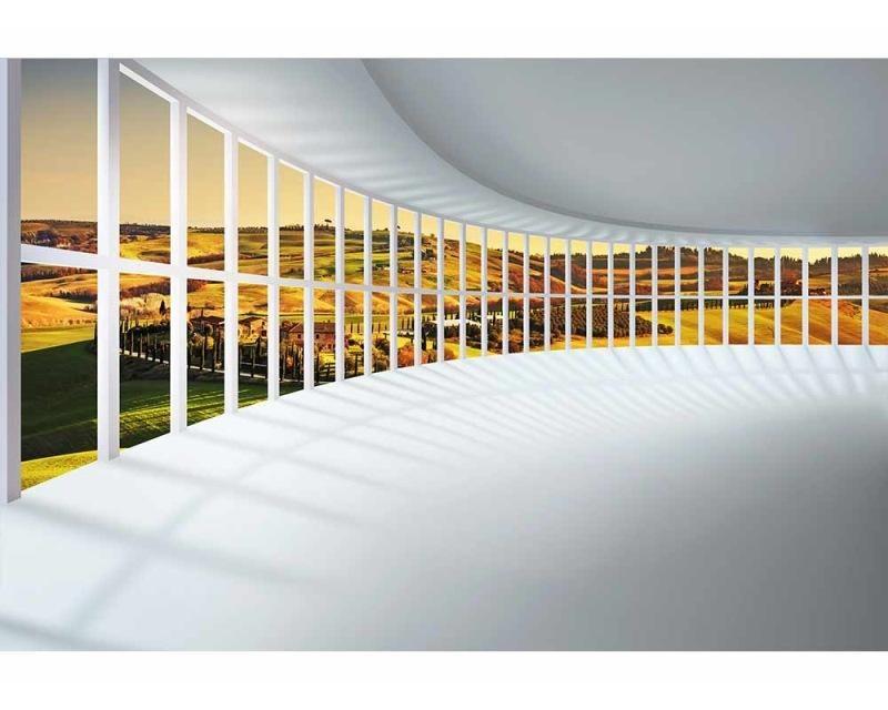 Vliesové fototapety na zeď Hala s výhledem | MS-5-0040 | 375x250 cm - Fototapety vliesové