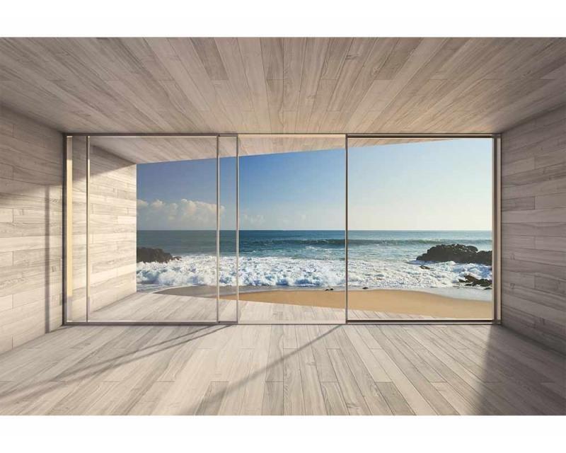 Vliesové fototapety na zeď Okno na pláž   MS-5-0042   375x250 cm - Fototapety vliesové