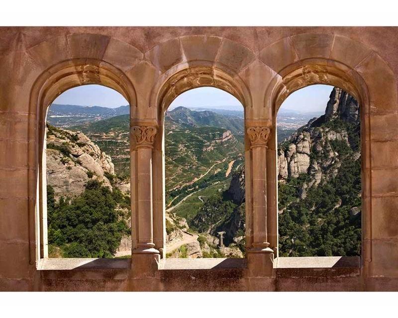 Vliesové fototapety na zeď Klenuté okno | MS-5-0049 | 375x250 cm - Fototapety vliesové