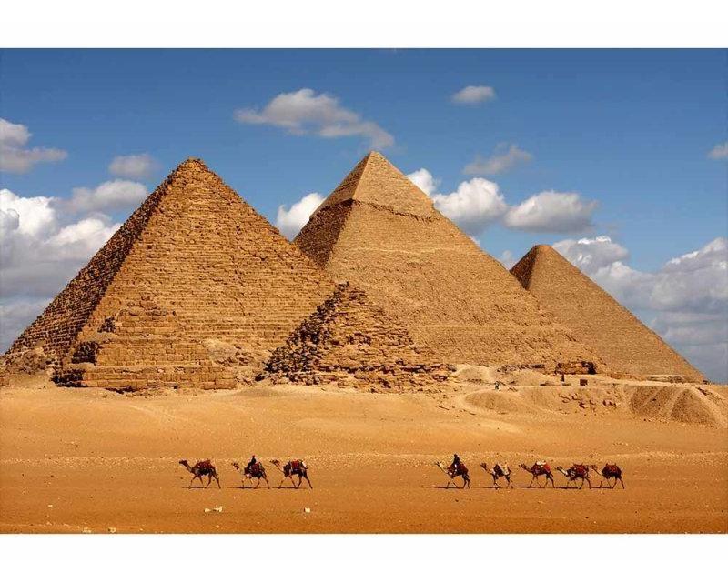 Vliesové fototapety na zeď Egyptská pyramida | MS-5-0051 | 375x250 cm - Fototapety vliesové