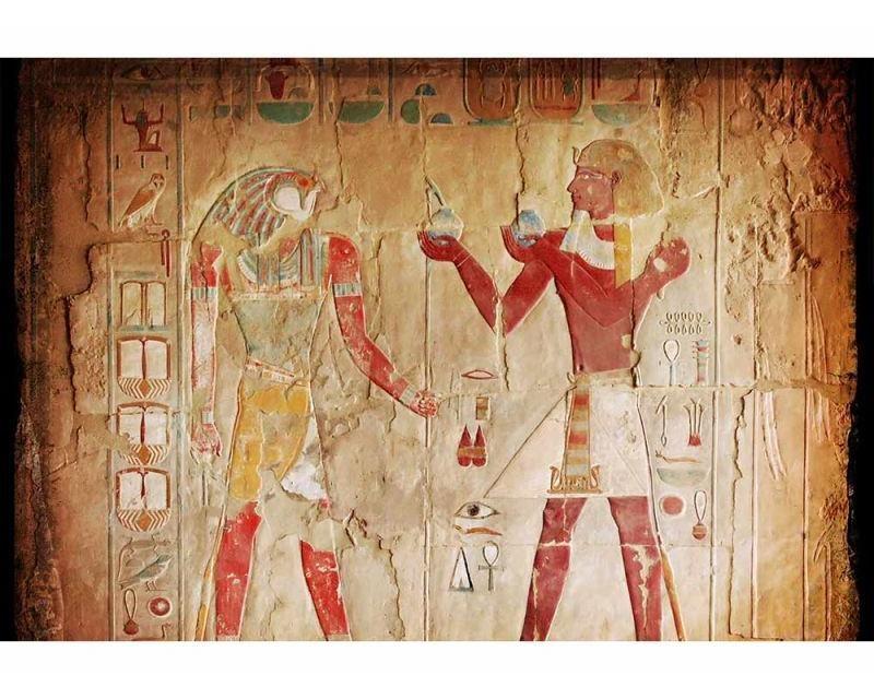 Vliesové fototapety na zeď Egyptská malba | MS-5-0052 | 375x250 cm - Fototapety vliesové
