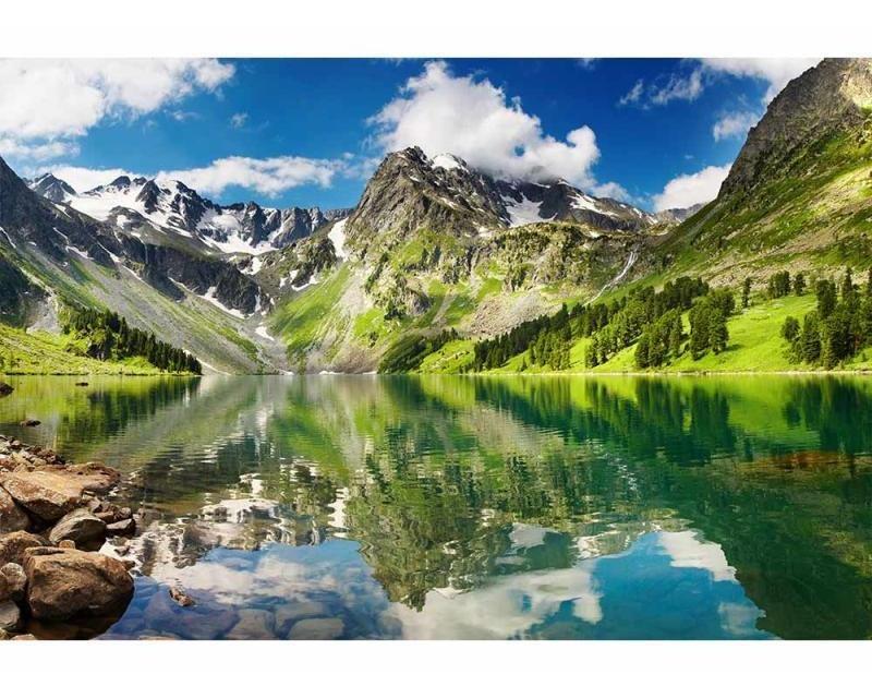 Vliesové fototapety na zeď Jezero | MS-5-0062 | 375x250 cm - Fototapety vliesové