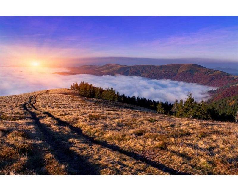 Vliesové fototapety na zeď Svítání na horách | MS-5-0063 | 375x250 cm - Fototapety vliesové