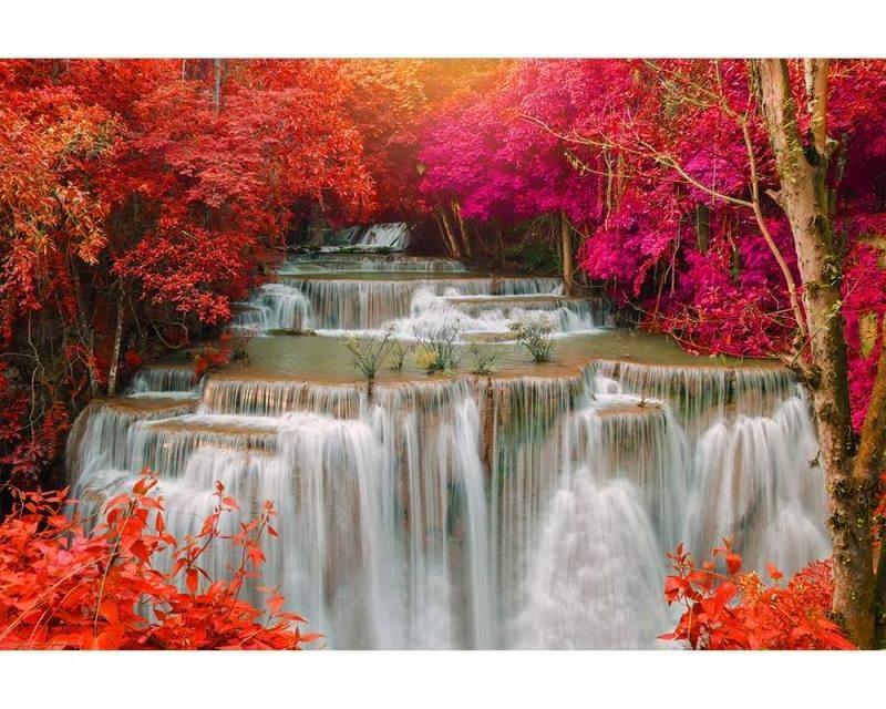 Vliesové fototapety na zeď Vodopád v deštném pralese | MS-5-0072 | 375x250 cm - Fototapety vliesové