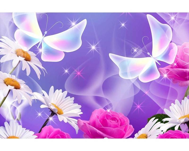 Vliesové fototapety na zeď Motýlci | MS-5-0113 | 375x250 cm - Fototapety vliesové
