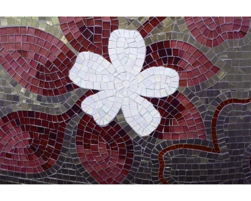 Vliesové fototapety na zeď Červená mozaika | MS-5-0114 | 375x250 cm - Fototapety vliesové