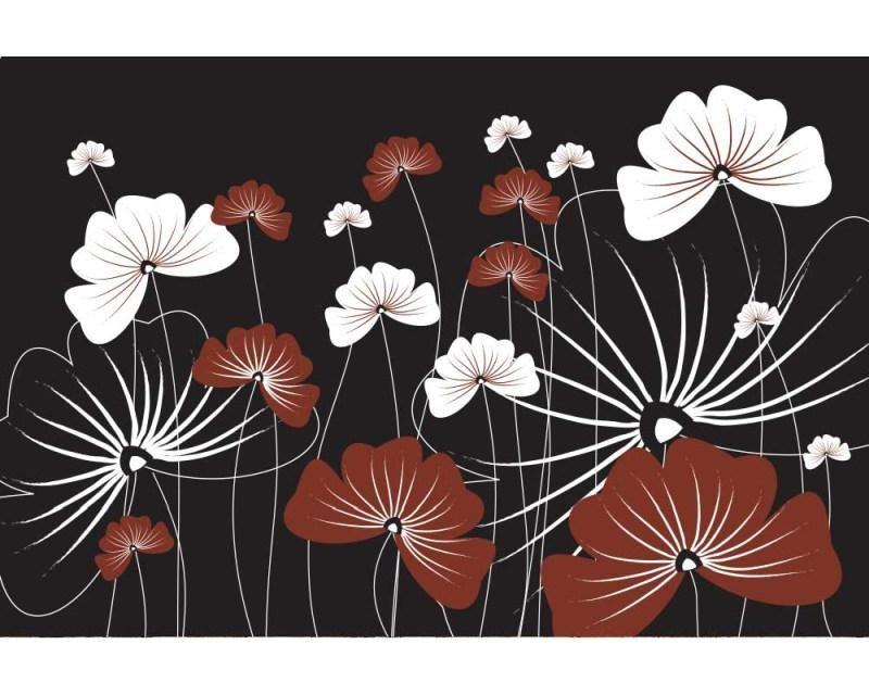 Vliesové fototapety na zeď Květiny na černém pozadí | MS-5-0156 | 375x250 cm - Fototapety vliesové