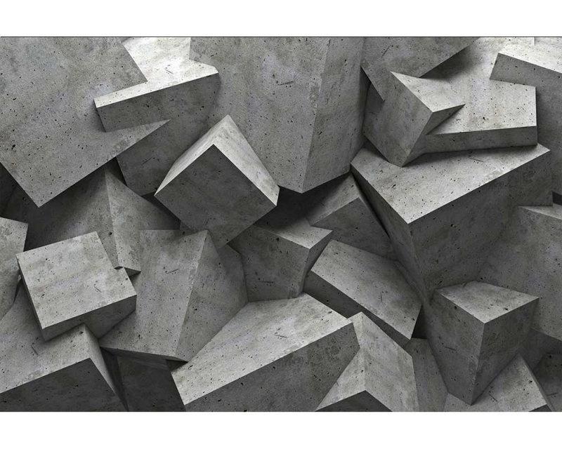 Vliesové fototapety na zeď 3D betonové kvádry | MS-5-0176 | 375x250 cm - Fototapety vliesové