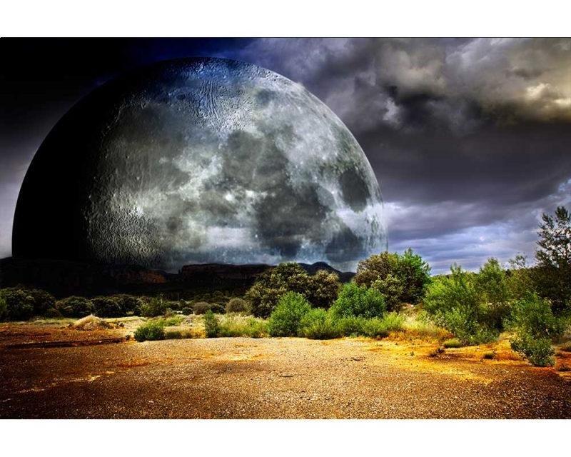 Vliesové fototapety na zeď Měsíc | MS-5-0185 | 375x250 cm - Fototapety vliesové
