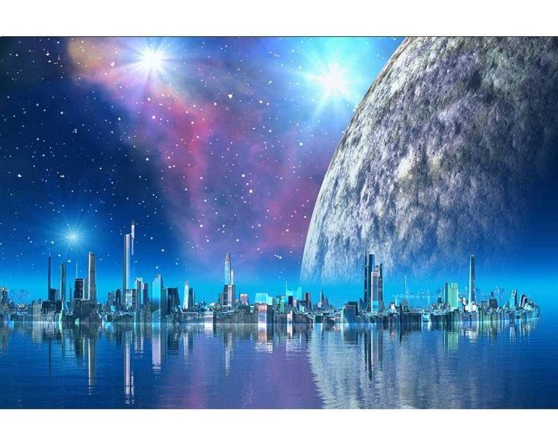 Vliesové fototapety na zeď Futuristické město | MS-5-0186 | 375x250 cm - Fototapety vliesové