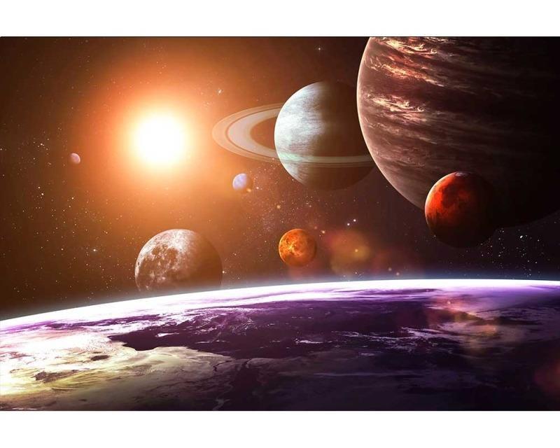 Vliesové fototapety na zeď Sluneční soustava | MS-5-0188 | 375x250 cm - Fototapety vliesové