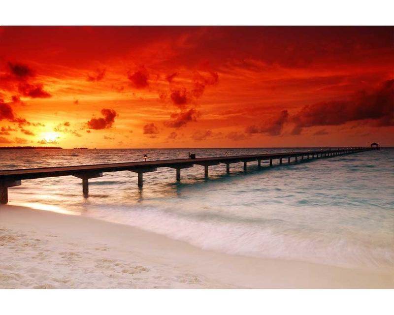 Vliesové fototapety na zeď Molo při západu slunce | MS-5-0191 | 375x250 cm - Fototapety vliesové