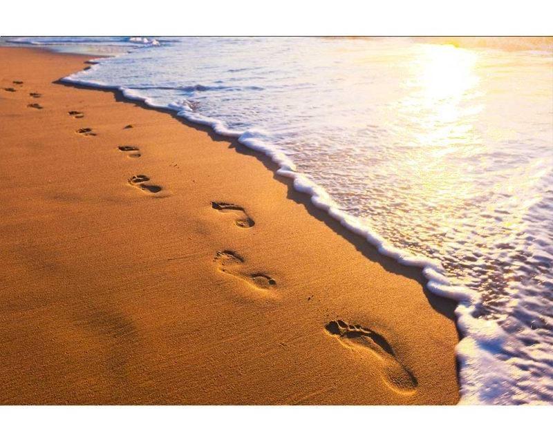 Vliesové fototapety na zeď Stopy na pláži   MS-5-0193   375x250 cm - Fototapety vliesové