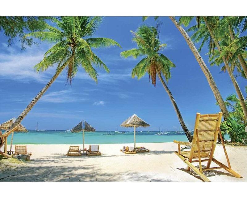 Vliesové fototapety na zeď Tropická pláž | MS-5-0195 | 375x250 cm - Fototapety vliesové