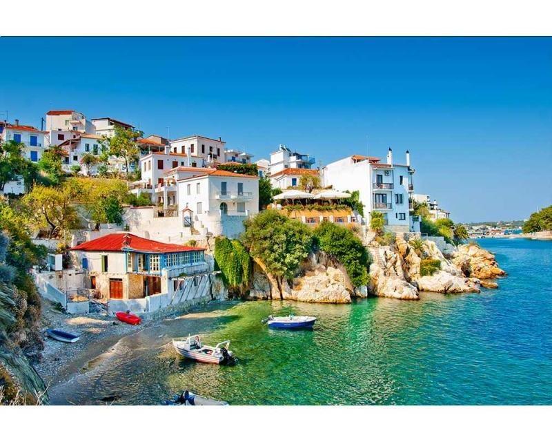 Vliesové fototapety na zeď Řecké pobřeží | MS-5-0197 | 375x250 cm - Fototapety vliesové