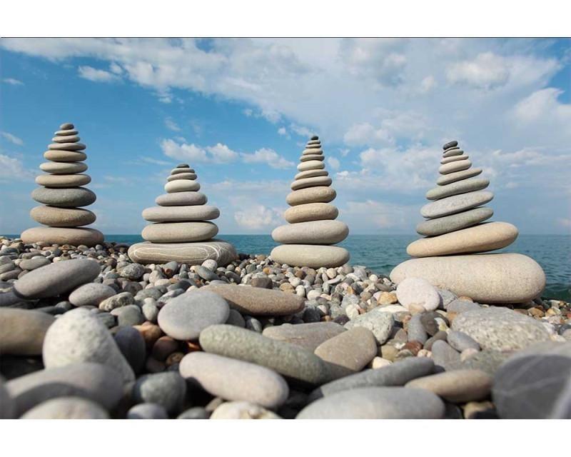 Vliesové fototapety na zeď Kameny na pláži | MS-5-0204 | 375x250 cm - Fototapety vliesové