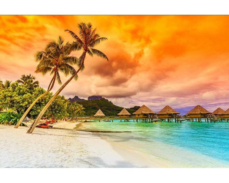 Vliesové fototapety na zeď Polynésie | MS-5-0211 | 375x250 cm - Fototapety vliesové