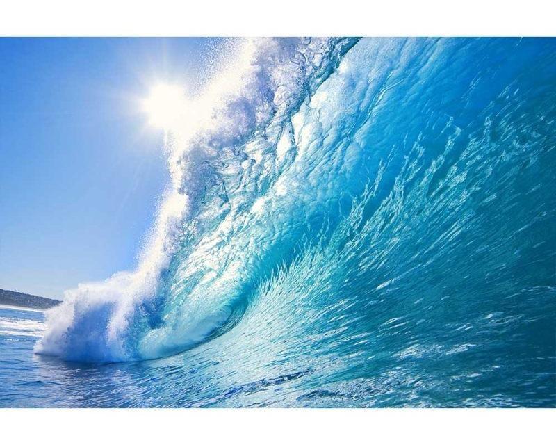 Vliesové fototapety na zeď Vlny | MS-5-0214 | 375x250 cm - Fototapety vliesové