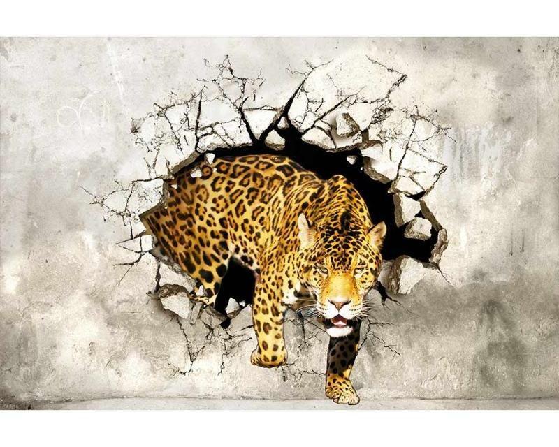 Vliesové fototapety na zeď Panter na lovu | MS-5-0233 | 375x250 cm - Fototapety vliesové