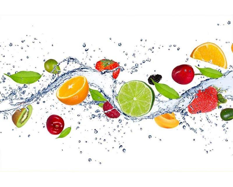 Vliesové fototapety na zeď Ovoce ve vodě | MS-5-0239 | 375x250 cm - Fototapety vliesové
